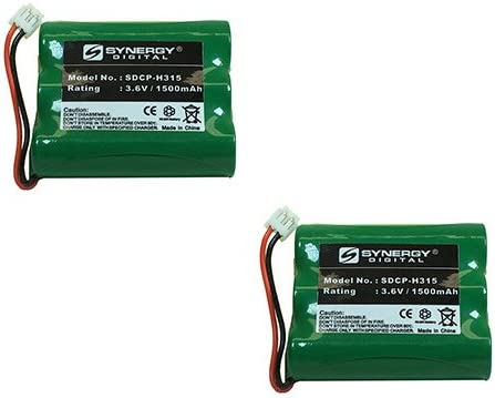 AT&T 3301 Cordless Phone Battery Combo-Pack Includes: 2 x SDCP-H315 Batteries