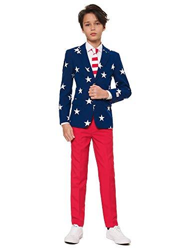 OppoSuits Jungen Men Suit Business-Anzug Hosen-Set, Stars and Stripes, 6