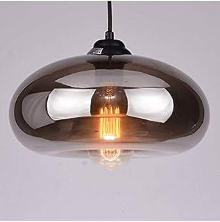 KOSILUM - Suspension goutte d'eau verre fumé noire - Ellipse - EN SOLDES ! - Lumière Blanc Chaud Eclairage Salon Chambre C...