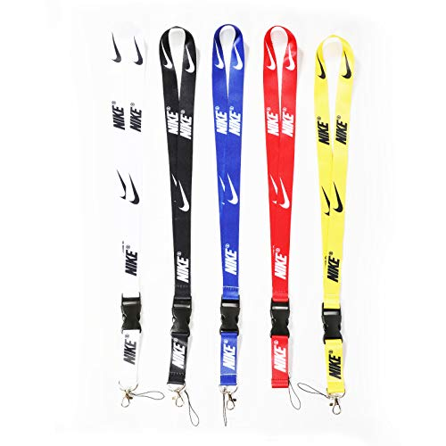 Sport Lanyard Neck Lanyard Strap for Key Chains/ID Holder/Phones/Bags/Accessories with Quick Release Buckle-5 Packs
