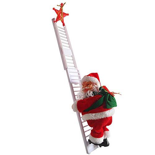 Scala per Arrampicata elettrica Babbo Natale, Albero di Natale Creativo Appeso, Decorazione per albero di Natale, Decorazione di casa, Arrampicata Babbo Natale Xmas Ornament