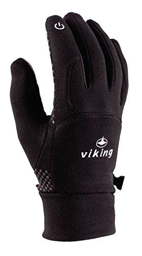 VIKING Multifunktions Handschuhe Winter Damen und Herren für Eislaufen, Jogging, Wandern, Radfahren - Horten, 09 schwarz, 6