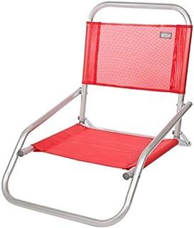Aktive 53969 - Silla plegable fija aluminio 47 x 63 x 53 cm - rojo
