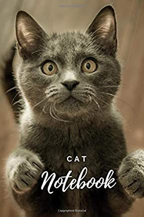 Cat Notebook: Awesome Notebook  for Coloring Drawing and Writing (110 Pages, Blank, Page Number, 6 x 9) Matt Finish