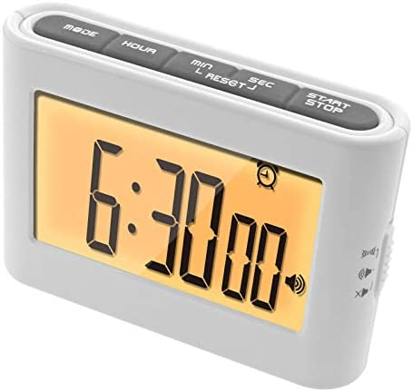 Multi Function Digital Timer Alarm Clock HD Large Display Timer Count Down Up Stopwatch Vibration product image