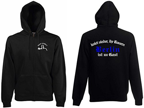 world-of-shirt Herren Kapuzenjacke Berlin Ultras kniet nieder