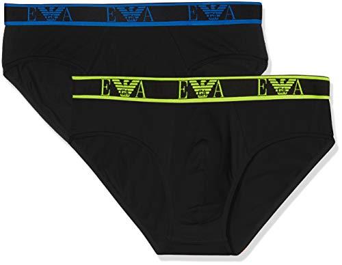 Emporio Armani Underwear 9p715 Boxer, Multicolore (Nero/Nero 17020), Large Uomo