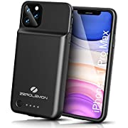 "ZEROLEMON iPhone 11 Pro Max Battery Case, Wireless Charge + Headphone Support 5000mAh SlimJuicer Portable Protective Case, Compatible with iPhone 11 Pro Max 6.5""/iPhone Xs Max 6.5"""