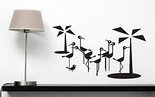 Kolibri Wandaufkleber Vinyl Selbstpaste Blume Strauß Flamingo Palme Sofa Hintergrund Wanddekoration Home Design103x56cm