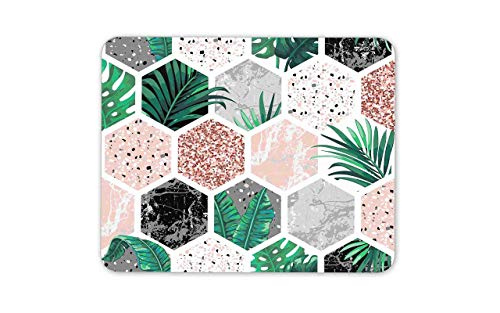 Mousepad Maus Matte Maus Pads tropische Fliesen Maus Matte Pad - Mosaik Pflanzen Natur Garten Computer Geschenk