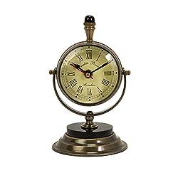 Imax 60082 Soren Brass Table Clock and Compass