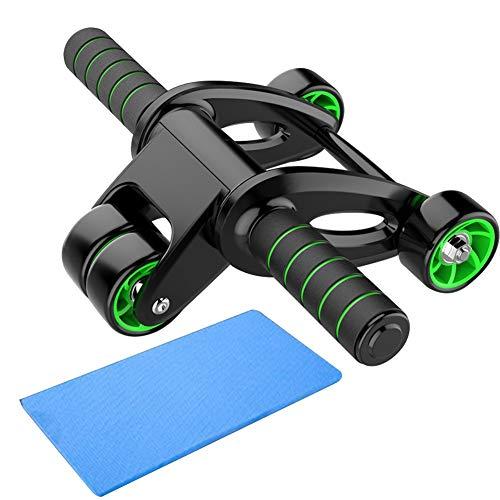LIZIJIUX Ab Rollenrad Resistant Muskeltraining Wear Shaping Gym Stärke Fitness Bauch Rad Übung Faltbare Heimplatzsparend Schweiß absorbieren (Color : Black)