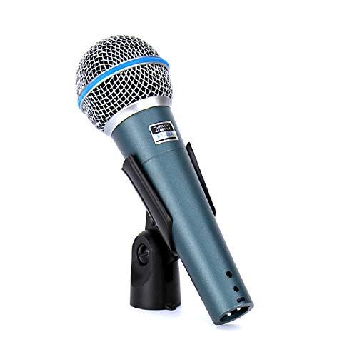 DDSHYNH 2 STÜCKE BT 58A Professionelle Bühnensänger Gesang Wired Mic Dynamisches Mikrofon für Videoaufnahmen BETA58A BETA 58 Karaoke System KTV