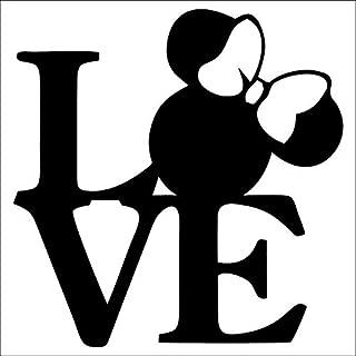 CCI Love Minnie Mouse Disney Decal Vinyl Sticker|Cars Trucks Vans Walls Laptop|Black|5.5 x 5.5 in|CCI2052