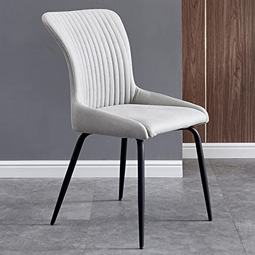 ZKLNB Home Modern Minimalist Metal Dining Chair, Multifunctional Leisure Light Luxury Back Chair Padded Seat with Non-Slip Foot Pad And High Resilience Sponge,G