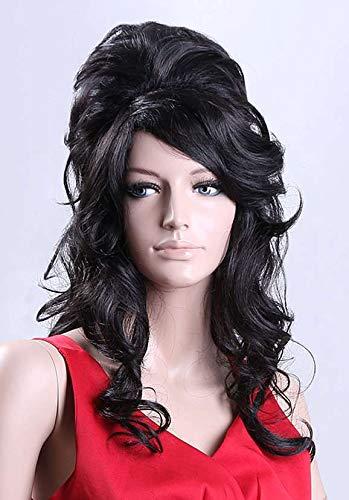 Forever Young Black Number 1 Ladies Amy Winehouse Rehab Beehive 60s Fiesta de disfraces peluca