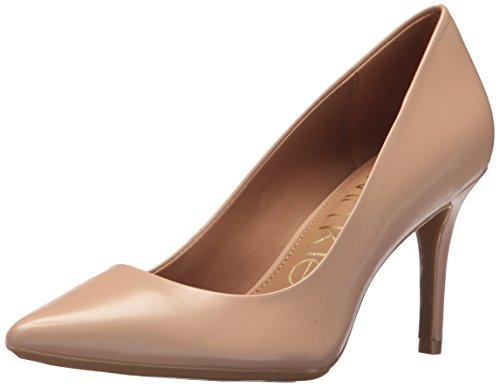 Calvin Klein Women's Gayle Pump, Desert Sand Leather, 8 Medium US