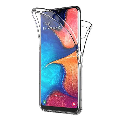 AICEK Compatible Samsung Galaxy A20e Hülle, 360°Full Body Transparent Silikon Schutzhülle für Samsung A20e Hülle Durchsichtige TPU Bumper Galaxy A20e Handyhülle (5,8 Zoll)