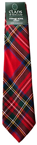 I Luv Ltd Royal Stewart Clan 100% Wool Scottish Tartan Tie