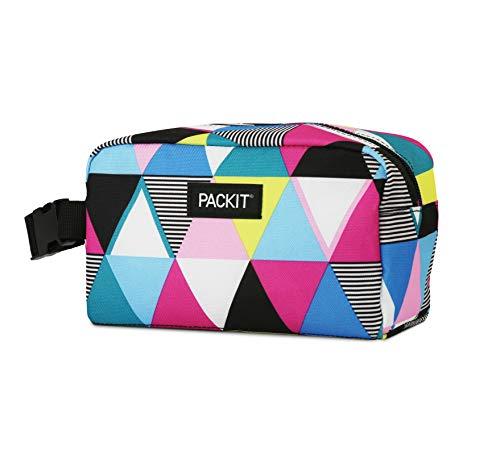 Packit AMZ-SX-TST Caja de aperitivos congelable, rayas triangulares, Exterior poliéster, Interior: 100% PEVA