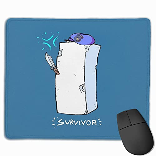 N\A Tofu Survivor Resident Evil 2 diseño Cosido Borde Laptop Gaming Mouse Pad computadora Mousepad