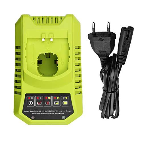 BCL14181H Reemplazo para Ryobi 9.6V-18V Cargador de Batería NI-CD Ni-MH y Li-Ion One + Cargador de Batería P117 para P102 P105 P107 P113