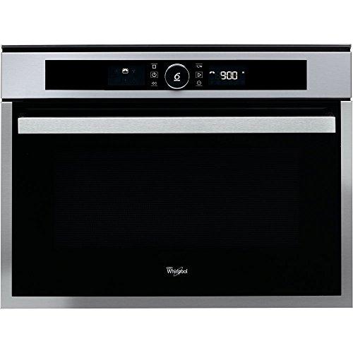 Whirlpool Horno AMW 509/IX, Microondas, Display, Tecnología 3D, Grill, 40L, Negro/INOX