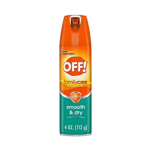 OFF! FamilyCare Bug Spray & Mosquito Repellent, Smooth & Dry, Great for the Beach, Backyard, Picnics and More, 4 oz.