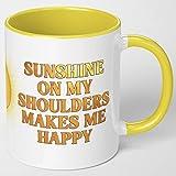 Sunshine Sunny Yellow Coffee Mug. John Denver Sunshine...