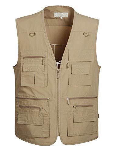 Amazon.com: Lentta Mens Summer Outdoor Work Safari Fishing Travel Photo Cargo Vest Multi Pockets: Clothing
