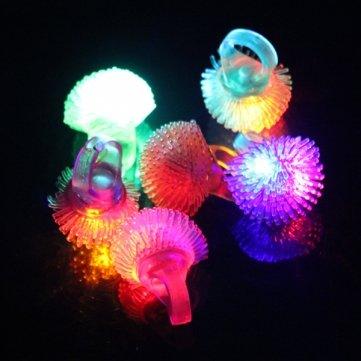 LED de de changement de couleur clignotant Jelly souple Anneau Halloween Party mariage