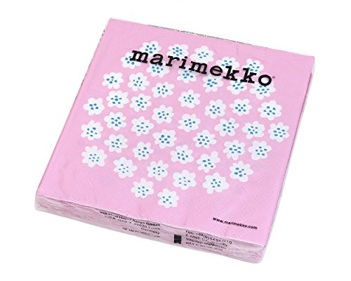 マリメッコ(marimekko) ペーパーナプキン プケッティ ライトローズ 33x33cm 20枚入り PUKETTI 575759 [並行輸入品]