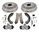 New Rear Drums Brake Shoes Wheel Cylinders & Hardware Fits For Honda Civic 1996-2000...