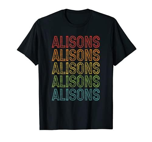 Alisons - Primer nombre, diseño retro, color vintage Camiseta