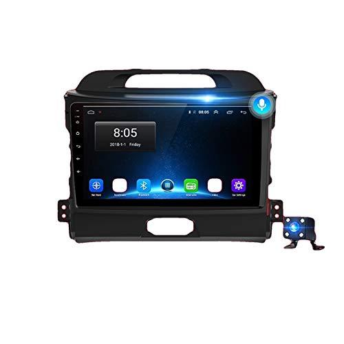 KCSAC 4G + 64G Android 10 Fits para Kia Sportage 3 2010 2011 2013 2014 2014 2015 2015 2016 Auto 2 Din Car Radio Stereo Player Bluetooth GPS DVD (Color : 4G WIFI 4 64GB)