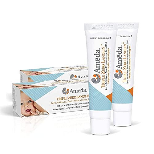 AMEDA - Crema de lanolina triple cero - Para pezones doloridos - 35 g
