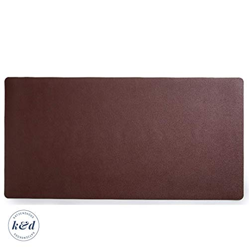 """Large Brown Leather-Texture Desk Mat   Premium Desk Pad Protector   Laptop and Big Computer Desk blotter  Comfortable Smooth Writing Desk Blotter Pad for Home and Office 36""""x20"""""""