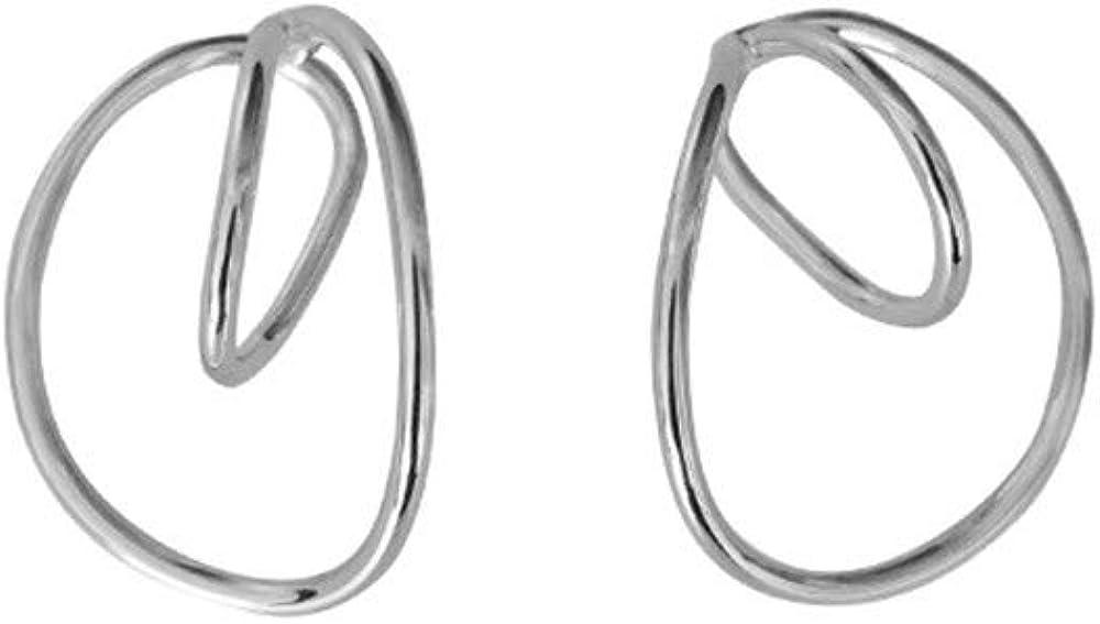 Set Irregular Geometry Earring Ear Clip Ear Cuff Gorgeous Hooping Earrings for Women Girls Jewelry Dainty Minimalist Non Piercing Glossiness Wrap Cartilage