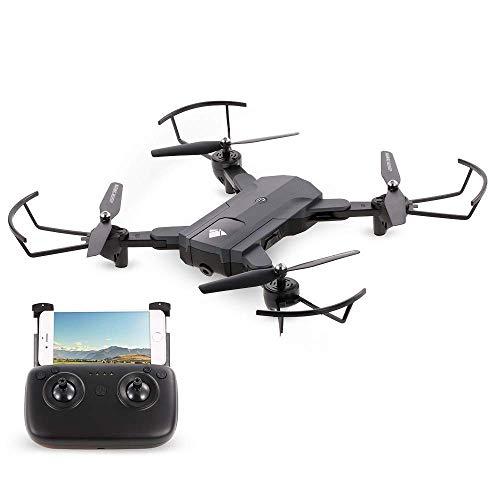 MEETGG Mini Drohne Faltbar,FPV RC Quadrocopter mit HD WiFi Kamera Live Ü bertragung 6-Axis gyro Headless Modus Ideal fü r Anfä nger und Kinder