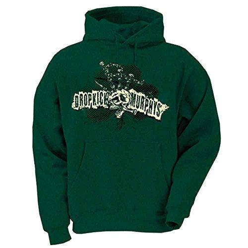 Dropkick Murphys - Bagpipe Mohawk Skull Kapuzenpullover, grün, Grösse L