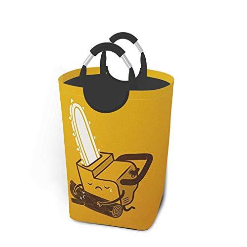 ZCHW Cesto de lavandería Lindo llanto Motosierra Impreso Cubo de Almacenamiento Impermeable, cesto de lavandería con Asas Cesta organizadora cesto de lavandería, contenedores de Juguete 50L