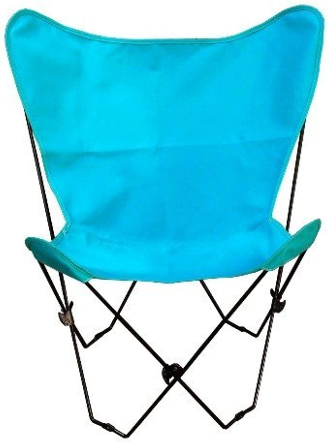 Combination Classic Butterfly Beach Chair Frame Finish  Black, color  Teal