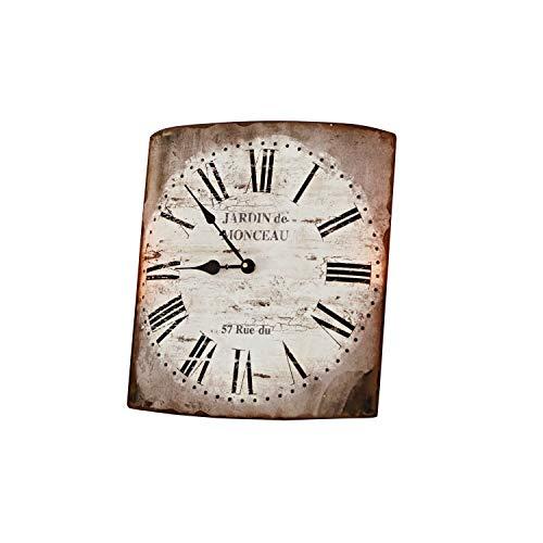 Loberon Uhr Monceau, Eisen, H/B/T ca. 31,5/35 / 4,5 cm, Creme
