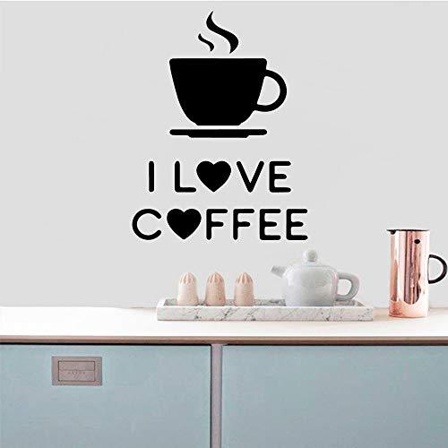 Kaffee Pvc wasserdicht für Wohnzimmer Wohnaccessoires Baby Wandaufkleber Dekoration Gelb L 42cm X 54cm