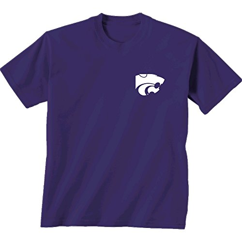 NCAA Kansas State Wildcats Adult Initial Pattern Short sleeve, Medium, Cc Purple