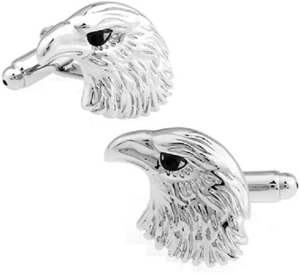MRCUFF Eagle Bird of Prey Pair Cufflinks in a Presentation Gift Box & Polishing Cloth