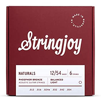 Stringjoy NB1254 Natural Bronze Acoustic Guitar Strings, (Light Gauge - 12-54) review