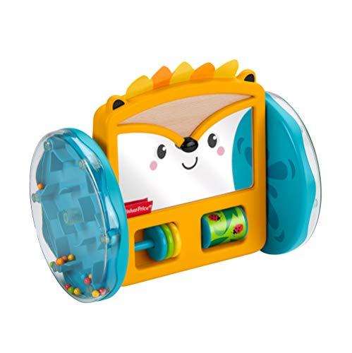 Fisher-Price GJW14 - Rollender Igel-Spiegel, Spielzeug zum Spielen in der Bauchlage und zum Krabbeln, ab 3 Monaten