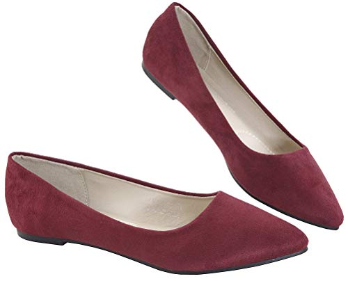 Top 10 best selling list for burgundy flat shoes ladies