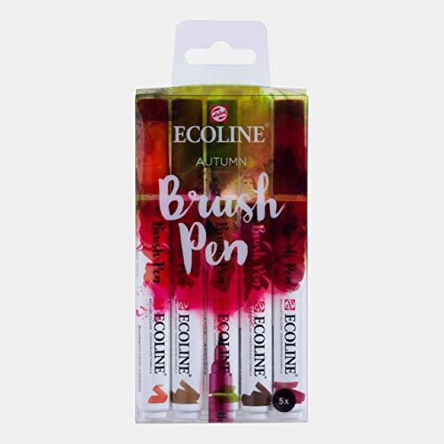 Ecoline Liquid Watercolor Brush Pen, Set of 5 - Autumn (11509904)